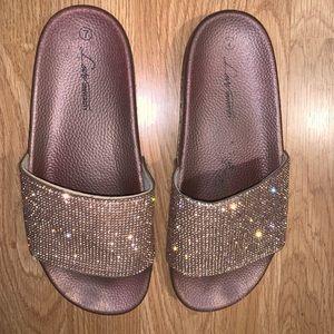 love university Shoes - Women's Rhinestone Slides